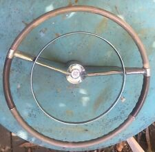 1957 1958 Cadillac Steering Wheel w/Horn Ring and center Crest/Medalion