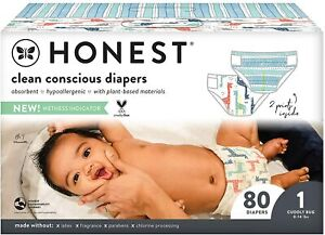The Honest Company, Club Box, Clean Conscious Diapers (Size 1, 80 Count)
