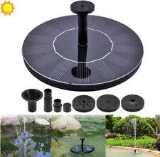 Solar Power Fountain Water Pump Floating Panel Pool Garden Pond Watering Kit DIY