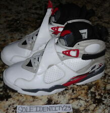 b71a4f73746c3a AIR JORDAN RETRO 8 WHITE BLACK TRUE RED BUGS BUNNY SZ 9.5 AQUA CONFETTI SUNS