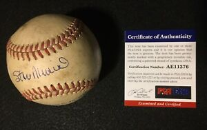 Stan Musial - 1949 Game Used Baseball - Autographed - Multiple Authentication