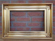 (L) alter Bilderrahmen Rahmen für Gemälde vergoldet Falz: ca. 30,8 x 49,8 cm