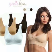 3Pcs/set Genie Bra Classic Seamless Black White & Nude AS SEEN ON TV Plus Size