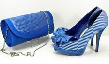 Special Occasion Satin Striped Heels for Women