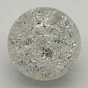 """2"""" Waterfall Aquarium Fountain Spinning Ball Cracked Style Clear Glass Feng Shui"""