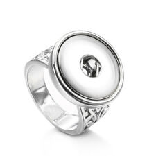 Hot Charm Totem Ring Ring Snap Button Fit 18MM Noosa Charm jewelry For Women