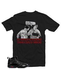 """Shirt Matching Air Jordan Retro 9 """"Bred"""", Black, Size Large,  Bruh Man"""