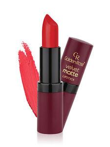 Golden Rose Velvet Matte Lipstick Red Pink Nude Brown Longstay UK STOCK! SEALED!