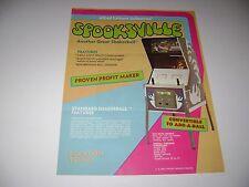 1972 Allied Leisure Spooksville Arcade Game Original sales flyer brochure