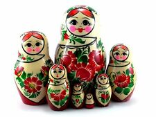 Nesting Dolls Russian Matryoshka Traditional Babushka Stacking Wooden Toys set 7