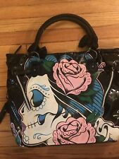 IRON FIST Black Sugar Witch Vegan Tote Bag Handbag Skull Rose RARE