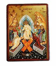 Greek Russian Orthodox Lithography Icon Resurrection of Christ 9x7cm mdf