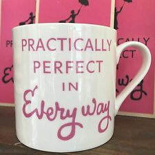 MARY POPPINS FILM PRACTICALLY PERFECT PINK LARGE BONE CHINA MUG - POST WORLWIDE