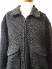 EXC!! Mens WOOLRICH Zip Front Fleece jacket Gray Large Pockets Coat LG L
