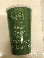 Keep Calm And Carry On Gardening  Novelty Tea /Coffee Mug Gift