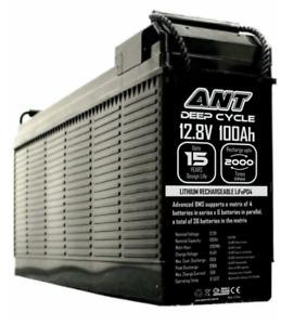 POWERANT 12V 100ah Lithium LiFePo4 100A/200A Deep Cycle Slim Case Battery