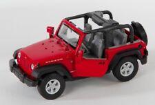 BLITZ VERSAND Jeep Wrangler Rubicon rot  red Welly Modell Auto 1:34-39 NEU OVP 1