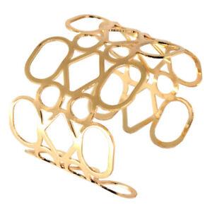 Handgefertigter Armreif silber gold Vintage Armspange Armband Armschmuck Damen