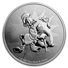 Scrooge McDuck .999 Silver Coin 1 oz 2018 Niue Disney $2 Coin Duck Tales Uncir