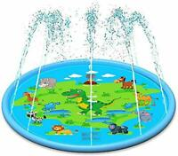 Splash Pad, 67 Inches Outdoor Water Sprinkler Pool Sprinkler for Kids Boys Girls