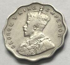 1936 George V King Emperor 1 ANNA Copper Nickel coin India-British