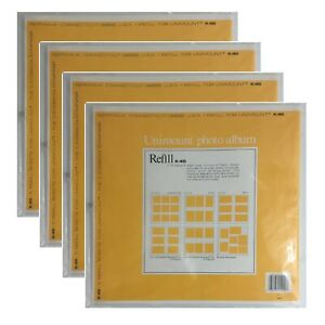 4 CR Gibson K45 Photo Album Refill 5 Unimount Magnetic Sheets Postbound Pages