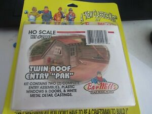 Bar Mills HO Scale Twin Roof Entry Pack  #2007  Bob The Train Guy