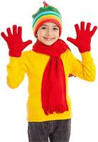 Kids Gloves Full Fingers Knitted Gloves Warm Mitten Winter, MultiColor, Size 1.0