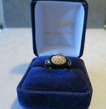 Bague en or jaune Onyx et diamants/ Ring Gold onyx and diamonds