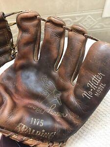 "Spalding USA 1175 Don Larsen No-Hitter 10.5""  Baseball Glove Right Hand Throw"