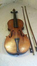 Old Violin needs refubishment + 2 bows