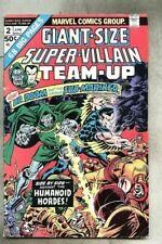 Giant-Size Super-Villain Team-Up #2-1975 vg Spider-Man
