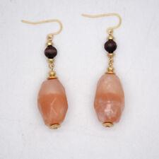 chico's women jewelry matte gold tone drop dangle wooden earrings acrylic beaded