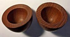 Danish Modern Teak Egg Cups (2) Stamped Laurids Lonborg Denmark