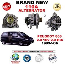 FOR PEUGEOT 806 2.0 16V 2.0 HDi 1999-ON NEW 110A ALTERNATOR ** OE QUALITY **