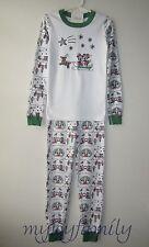 HANNA ANDERSSON Organic Long Johns Pajamas Disney Mickey Dashing Snow 150 12 NWT