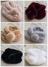 Real luxurious Rabbit Fur Scarf Collar Wrap Scarves Shawl
