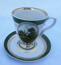 Russian Vintage Porcelain Large Teacup and Saucer Dulevo