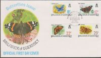 GB - GUERNSEY 1981 Butterflies of the Bailiwick Issue I SG 226-229 FDC INSECTS