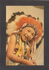 POSTCARD:  LITTLE QUENTIN - BOY AT ST. JOSEPH'S INDIAN SCHOOL - CHAMBERLAIN, SD