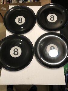 "Luminarc 12.5"" Eight Ball Decorative Plates/platters Set Of 4"