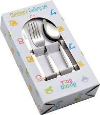 Childrens Cutlery Dining Set. Kids Knives, Forks, Dessert Spoons - 36 Piece Set