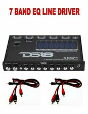 DS-KEQ7 Six Channel 7 Band Graphic Equalizer 7 Volt With 2 FREE 3FT RCA Cables