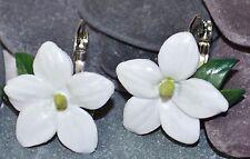 Jasmine Earrings, Handmade Polymer Clay, Summer Flowers, Wedding, Prom, Nature