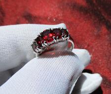 Granat Ring 925 Sterling Silber