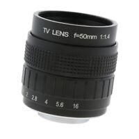 """50mm 1/2 """"f / 1.4 c montent la lentille principale compacte de cctv pour"""