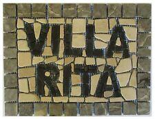 ''MILANO'' mosaici mosaico in marmo rosone insegne villa fatto su rete 33 x 25