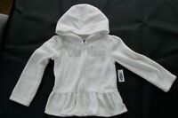 OLD NAVY TODDLER GIRL SILVER LOGO FLEECE GRAPHIC HOODED FRONT ZIP (white)