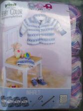 BABYGARNITUR  STRICKSET  Gründl Baby Color  Komplettset für Gr.56/62 ( 68/74 )