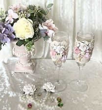 2pc Wedding Champagne Toasting Flute  Glass